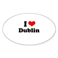 I love Dublin Oval Sticker (10 pk)