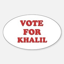 Vote for KHALIL Oval Decal