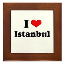 I love Istanbul Framed Tile