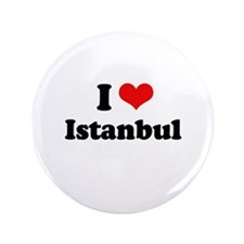 """I love Istanbul 3.5"""" Button (100 pack)"""