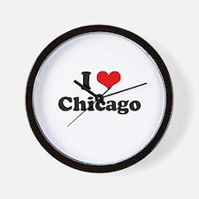 I love Chicago Wall Clock