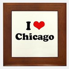 I love Chicago Framed Tile