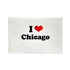 I love Chicago Rectangle Magnet