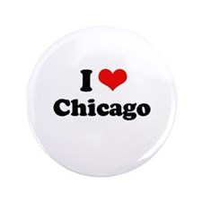 """I love Chicago 3.5"""" Button (100 pack)"""