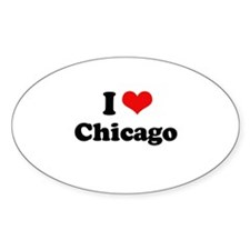 I love Chicago Oval Decal