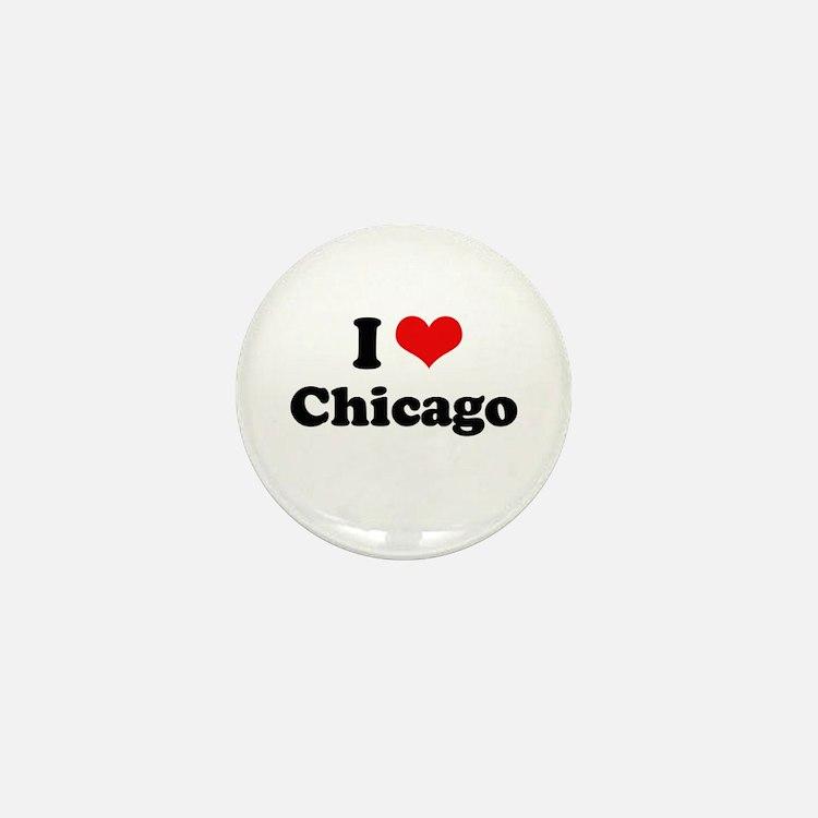 I love Chicago Mini Button (10 pack)