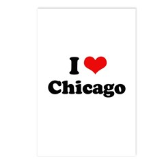 I love Chicago Postcards (Package of 8)
