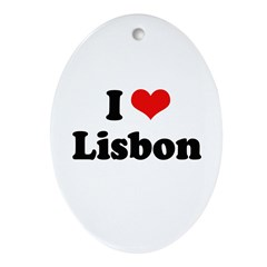 I love Lisbon Oval Ornament