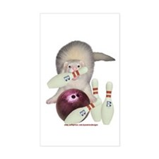 Bowling Ferret Rectangle Decal