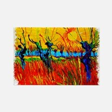 Funny Abstract expressionism Rectangle Magnet