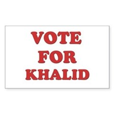 Vote for KHALID Rectangle Decal