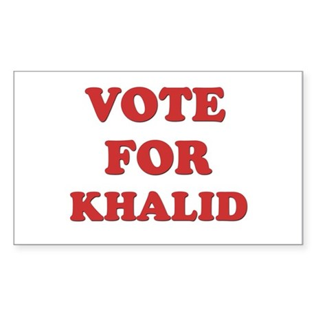Vote for KHALID Rectangle Sticker