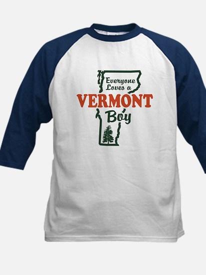 Everyone Loves a Vermont Boy Kids Baseball Jersey