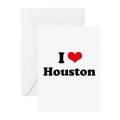 I love Houston Greeting Cards (Pk of 20)