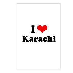 I love Karachi Postcards (Package of 8)