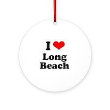 I love Long Beach Ornament (Round)