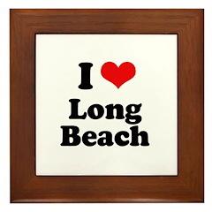 I love Long Beach Framed Tile