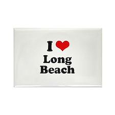 I love Long Beach Rectangle Magnet