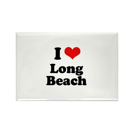 I love Long Beach Rectangle Magnet