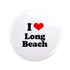 "I love Long Beach 3.5"" Button"