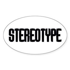Stereotype Oval Decal