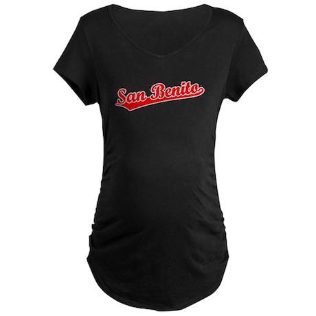 Retro San Benito (Red) Maternity Dark T-Shirt