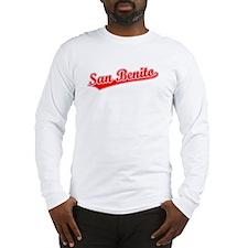Retro San Benito (Red) Long Sleeve T-Shirt