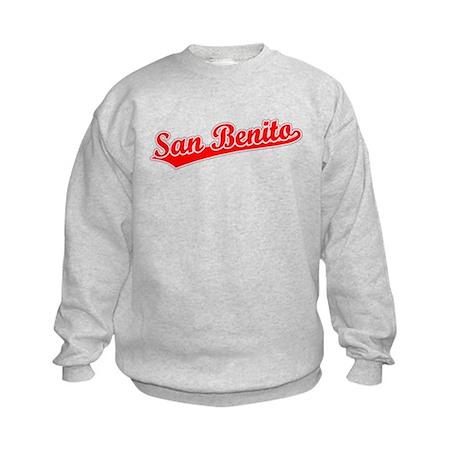 Retro San Benito (Red) Kids Sweatshirt