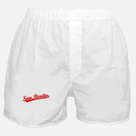 Retro San Benito (Red) Boxer Shorts