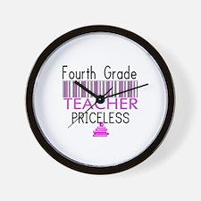 Fourth Grade Teacher Priceles Wall Clock