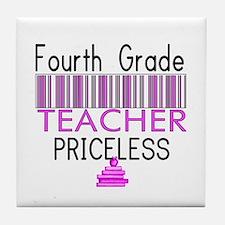 Fourth Grade Teacher Priceles Tile Coaster