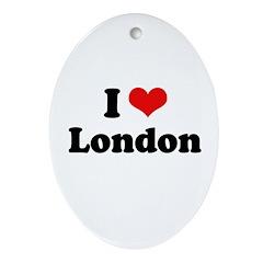 I love London Oval Ornament