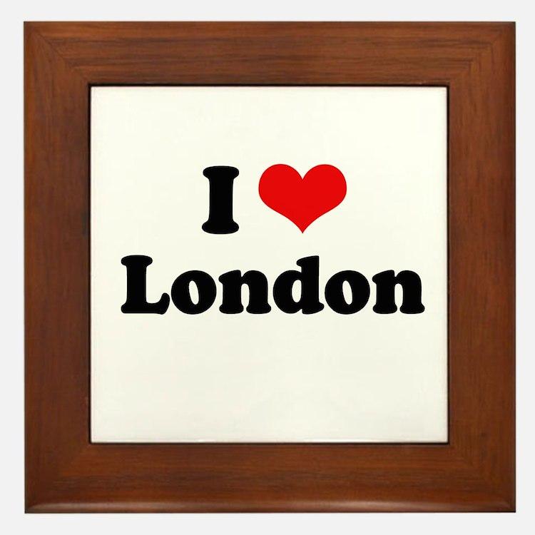 I love London Framed Tile