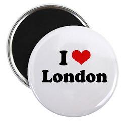 """I love London 2.25"""" Magnet (10 pack)"""