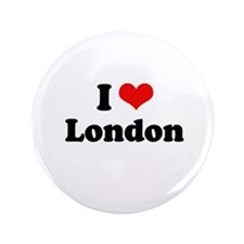 """I love London 3.5"""" Button (100 pack)"""