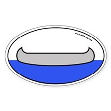 Canoe oval bumper sticker