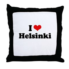 I love Helsinki Throw Pillow