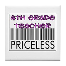 Fourth Grade Teacher Priceles Tile Coaster