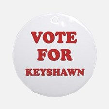 Vote for KEYSHAWN Ornament (Round)