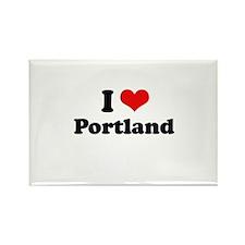 I love Portland Rectangle Magnet