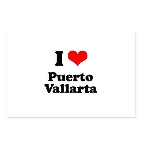 I love Puerto Vallarta Postcards (Package of 8)