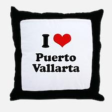 I love Puerto Vallarta Throw Pillow