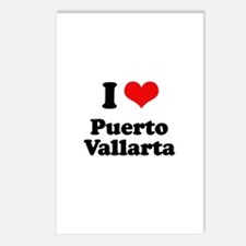 I love Puerto Vallarta Postcards (Package of 8)