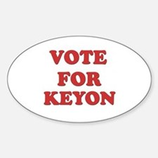 Vote for KEYON Oval Decal