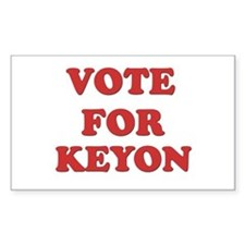 Vote for KEYON Rectangle Decal