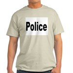Police (Front) Ash Grey T-Shirt