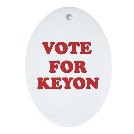 Vote for KEYON Oval Ornament