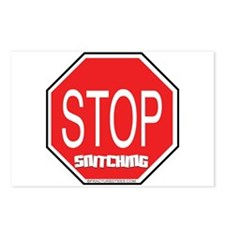 Stop The Snitching Postcards (Package of 8)