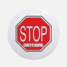 Stop The Snitching Ornament (Round)