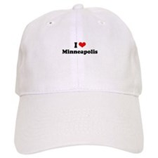 I love Minneapolis Baseball Baseball Cap